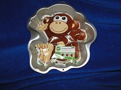 New Vintage Wilton Monkey Cake Pan  2105-1023 with instruction booklet