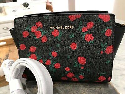 MICHAEL KORS Selma Mixed Media Medium Messenger Crossbody Bag Petite Rose