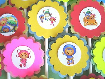 30 TEAM UMIZOOMI Cupcake Toppers Birthday Party Favors, Baby Shower Decor 30 (Team Umizoomi Party Decorations)