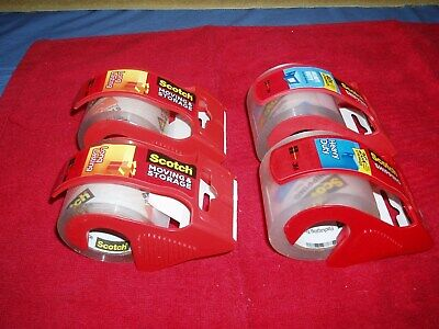 2 Rolls Scotch 1.88 Inch X 800 Inch Packaging Tape With Dispenser - Clear 142l