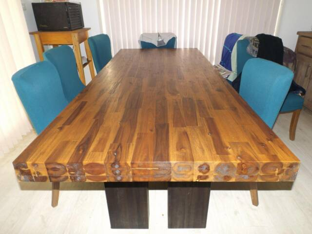 Dining Table Acacia Wood For SALE 8 Seater