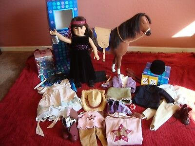 American Girl Doll of Today Lot Samantha Horse Penny Riding Dressy Outfits ++