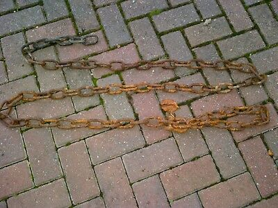 9 ft of used old rusty marine boat chain 2.5