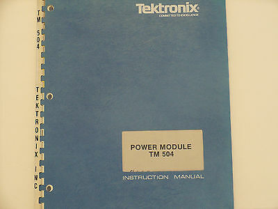 Tektronix Tm 504 Power Module Instruction Manual