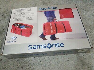 Samsonite Tote-A-Ton Duffle Bag red