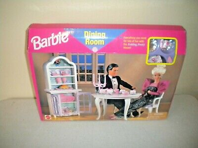 NIB 1997 Mattel Barbie Doll Dining Room Play Set Model 67551-92