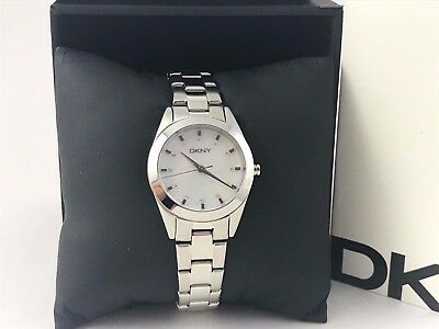 Dkny Mother Of Pearl Dial Watch - DKNY Mother of Pearl Dial Stainless Steel Ladies Watch NY8619