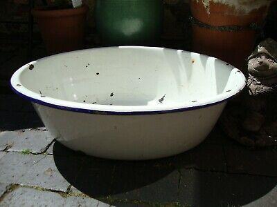 Vintage Enamel Bath Tub Garden Planter Metal Baby Bath Tub
