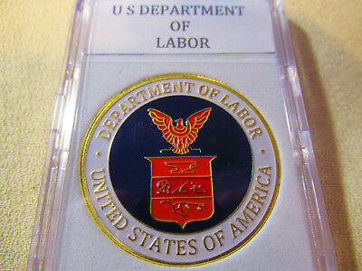United States Department Of Labor  Dol  Challenge Coin