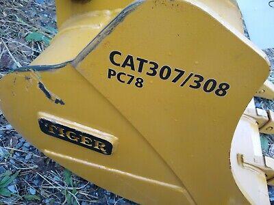 Heavy Duty Cat 307 308 30 Excavator Digging Bucket Tiger Teeth