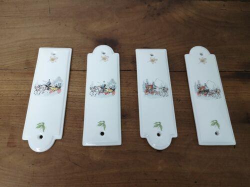 lot de 4 plaques DE propreté limosanit en porcelaine DE limoges Chapus frères
