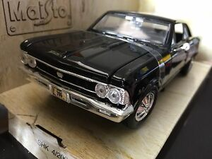 1/24 Black 1966 Chevy Chevelle Malibu SS ss396 model car