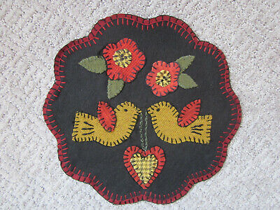 Delightful Daisies Penny Rug Kit Pre Cut and Pre Washed Applique Kit Flower Pattern