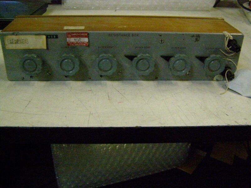 Cropico Croydon Precision Instrument Decades Resistance Box RBB6
