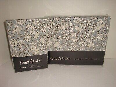 DwellStudio Audubon Full Queen Duvet Cover Shams Set NIP Bird Floral Porcelain