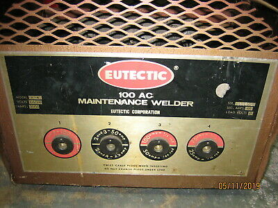 Eutectic 100ac Maintenance Welder A-4