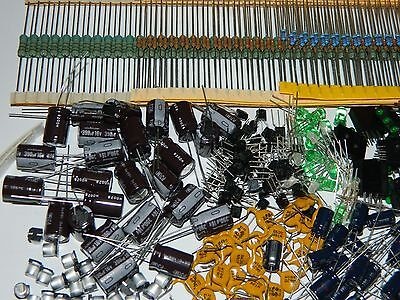 LARGE LOT Electronic Components / Resistors, Diodes, & More 1,200 pieces