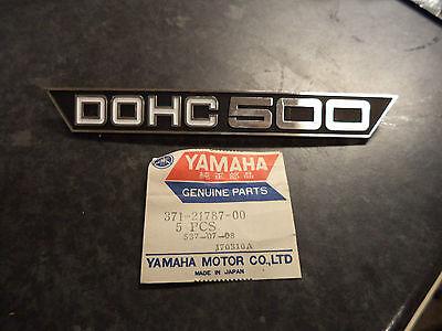 NOS <em>YAMAHA</em> 1973 1974 TX500 1975 XS500 SIDE PANEL EMBLEM TX 500 <em>XS 500</em>