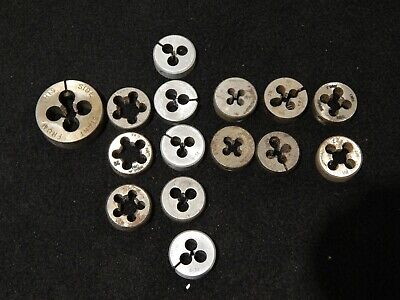 Lot Of Metric Hex Threading Dies Carbon Steel Tungsten - Most Made In U.s.a