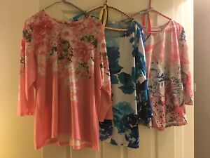 Five women's shirts size 1X