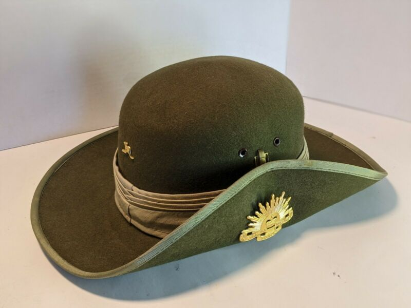 Australian Military Forces Slouch Hat with badge and kangaroo pin.