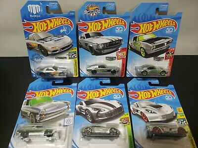 Hot Wheels Zamac Lot Of 6 corvette 67 mustang firebird Vw aston martin mazda rx7