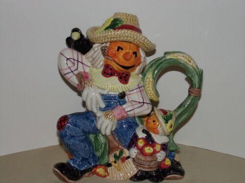 Fritz & Floyd Jack-O-Lantern Scarecrow Teapot