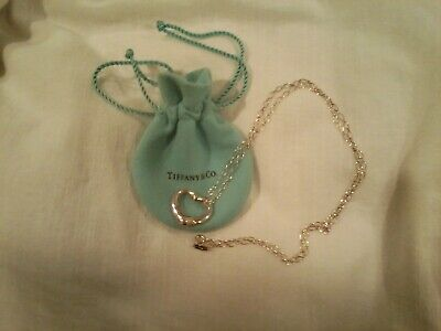 TIFFANY & Co AUTHENTIC PERETTI STERLING HEART PENDANT 24