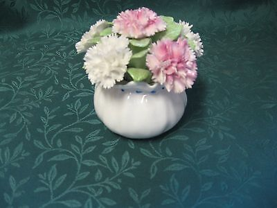 Royal Adderly Floral Bone China Centerpiece (Made In England) Carnations