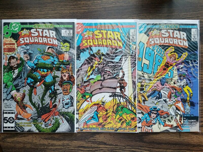 ALL-STAR SQUADRON #53, 54, 55 (DC, 1986) 8.0 - 9.0 Crisis on Infinite Earths JSA
