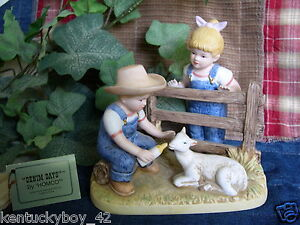 Home interiors homco denim days baby goat figurine w tag 8807 Home interiors denim das