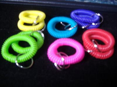 12 SPIRAL WRIST COIL KEY CHAIN RING - Wrist Key Chain