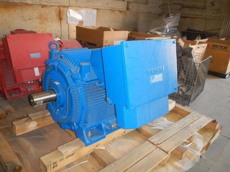 450 Hp (362kw) Siemens Electric Motor, 1200 Rpm, 355 Frame, Tefc, 460 V, New