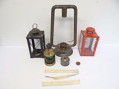 Lot Dietz Monarch 1908 Tubular Lantern Lamp Avon Hong Kong Candle Holder Parts