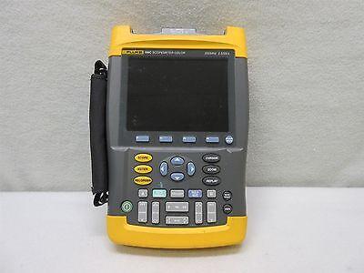 Fluke 199c 2 Ch. Digital Scopemeter W Color Display 200mhz 2.5gss