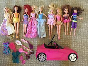 Barbies and Barbie's Car Convertible Pymble Ku-ring-gai Area Preview