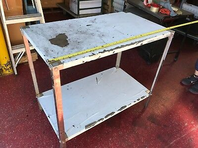 Table Stainless Steel W Stainless Steel Under Shelf 36l X 20 Wx32h