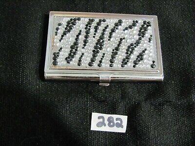 Vintage Jeweled Business Card Case Holder   282