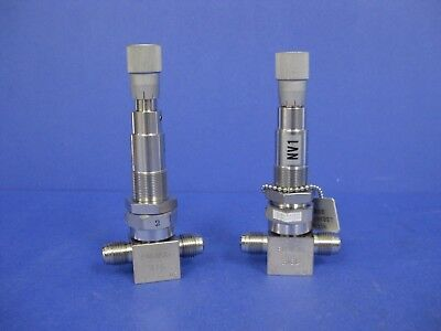 Fujikin Metering Needle Valve Regulate Valve 14 Mvcr Lot Of 2 Used