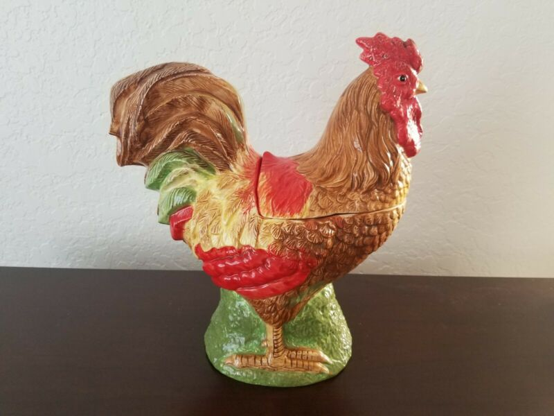 Oneida Fairweather Friends Rooster Cookie Jar - Sally Eckman Roberts