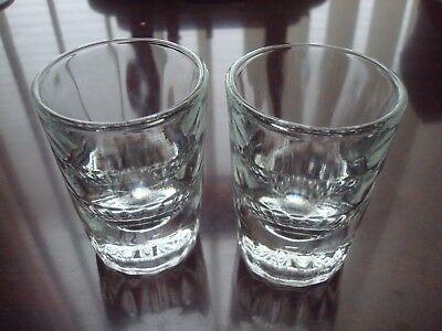 New Libbey 2 oz Fluted Whiskey Shot Glasses Set of 2 Libbey Fluted Whiskey Glass