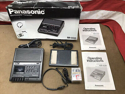 Panasonic Microcassette Transcriber Rr-930 With Foot Pedal