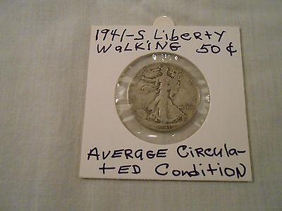 COIN:USA: 1941-S Liberty Walking Half Dollar: 1 Coin:Silver/Circulated/Original