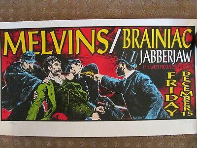 Melvins Silk Screen Concert Poster by Lindsey Kuhn Signed 125/200, 1995 LA