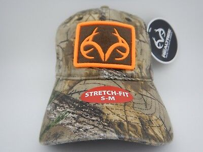 fe4ac1ef3a4 Mens Realtree Camo And Blaze Orange Hunting Hat Cap New SM-M