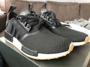 DS Adidas NMD R1 Core Black Gum Bottom size 10