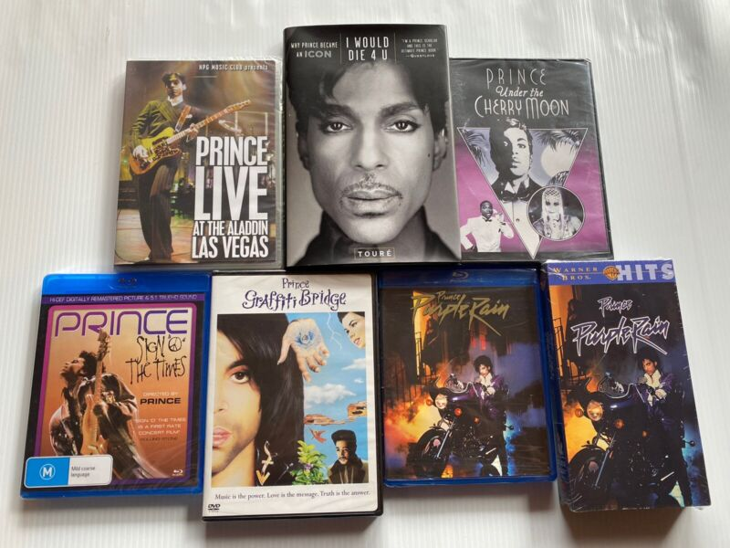 Prince New & Sealed Dvd Collection Plus Book