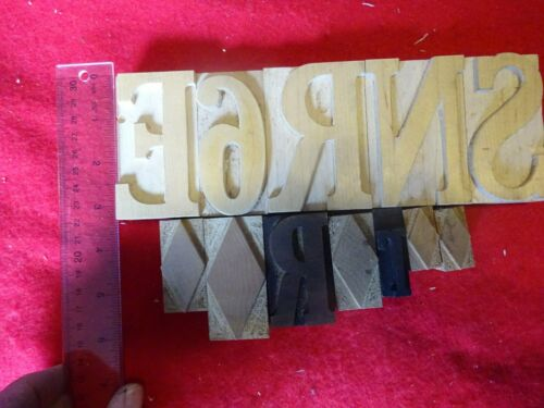Letterpress Woodtype Print Blocks