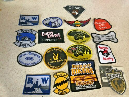 Lot of 17 Different Motorcycle theme Patches.