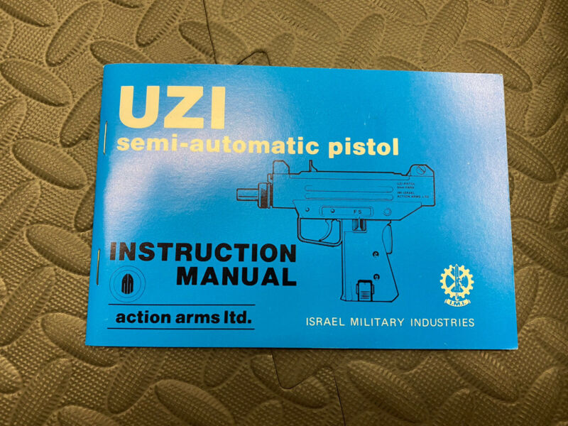 Uzi 9mm & .45 ACP Semi-Automatic Pistol, IMI Instruction Manual New